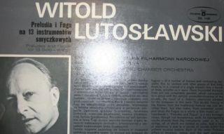 Lutoslawski Prelude and Fuge for 13 Solo Strings POLSKI Nagrania SXL