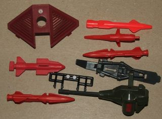1980s Gi Joe Action Figure Accessory Vehicle Parts Lot