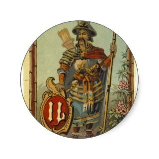 Samurai Mongol Warrior Poster Print Sticker