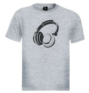 Headphone T Shirt Cool Music DJ Retro Vintage
