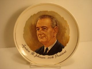 Lyndon Johnson 36th President Porcelain Collector Plate
