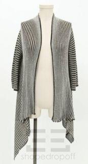 Missoni Metallic Black Silver Gold Knit Open Cardigan Size 42