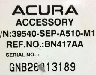 Acura TL Navigation Navi System GPS DVD ROM Map Disc Drive 07 08 2007