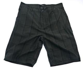New Hurley Plaid Black Mens Skate Walk Shorts 047 Size 30 32 34 36 38