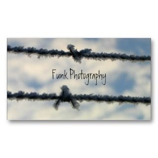 Frost on Barbed Wire Business Card