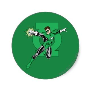 Green Lantern with Logo Background Sticker