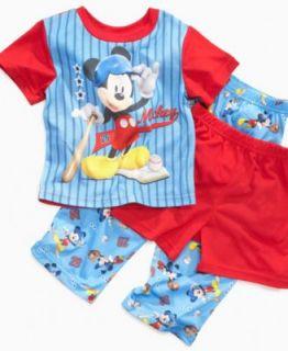 AME Kids Set, Toddler Boys Mickey Mouse 3 Piece Pajamas