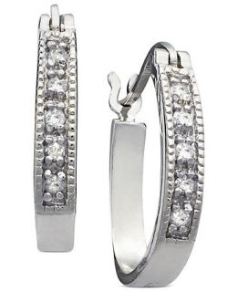 Channel Hoops (1/10 ct. t.w.)   Earrings   Jewelry & Watches