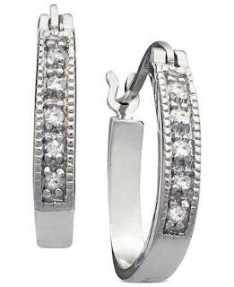 Channel Hoops (1/10 ct. t.w.)   Earrings   Jewelry & Watches