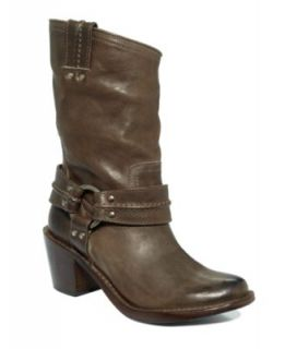 Frye Womens Shoes, Harness Mid Calf Boots   Shoes