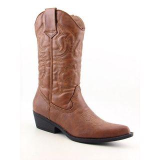 Madden Girl Sanguine Womens Sz 8 Brown Cognac Boots Cowboy Shoes