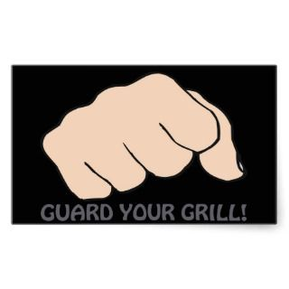 Guard Your Grill Rectangle Stickers