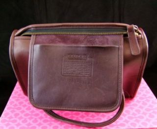 Vintage Coach Speedy Doctor Madison Burgundy Leather Satchel Hand Bag