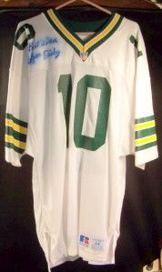 Lynn Dickey Packers White Jersey 10 Signed 1976 85 LW