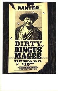 Dirty Dingus Magee 1970 MGM UA Home Video Frank Sinatra George Kennedy