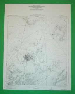 Sierra Madera Pecos County Texas 1921 Topo Map