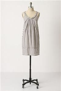 Maeve Anthropologie Slate Stripes Shift Dress Size 8