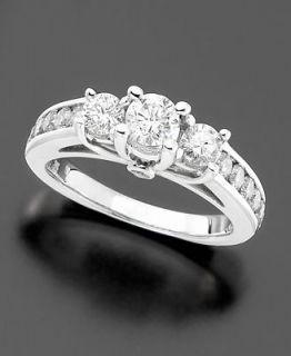 Diamond Ring, 14k White Gold Diamond Three Stone (1 1/2 ct. t.w.)
