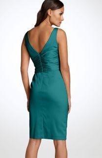Maggy London Sleeveless Stretch Satin Sheath Dress Sz 6