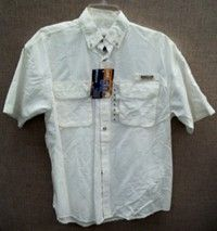 NWT MAGELLAN YOUTH UPF 50 LARGE WHITE SHORT SLEEVE SHIRT CHEAPEST ON