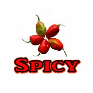 Spicy Five Habanero Hot Pepper Design Acrylic Cut Out