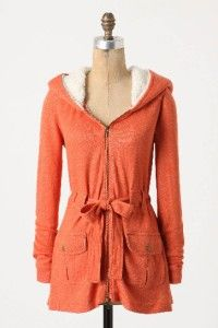 Anthropologie Madero Hoodie Size L Size Large New Cardi Sweater Sherpa