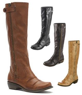 MIA Tall Ruched Riding Style Boots in Black Brown Tan Natural