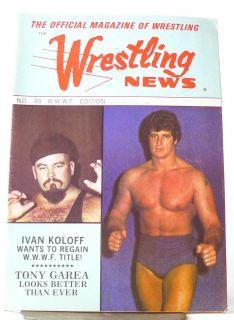 Wrestling News Magazine 49 WWWF Edition Ivan Koloff Harley Race Pinup