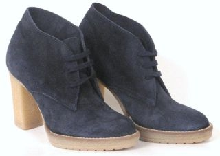 Crew MacAlister High Heel Ankle Boots Color Navy Size 7 Ankle Boots