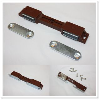 BROWN Magnetic Double Dual Furniture Door Catch Latch Cabinet Hardware