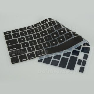 Black Silicone Keyboard Cover Skin for MacBook Pro 13 3