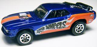 2006 Hot Wheels 125 1970 Mustang Mach 1 Blue