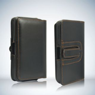 Retro Leather Clip Belt Flip Pouch Case for Samsung Galaxy Note i9220