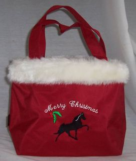 Tennessee Walking Walker Horse Red Christmas Tote Bag New
