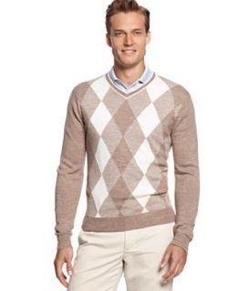 Greg Norman for Tasso Elba Sweater, Merino Wool Blend Argyle Golf