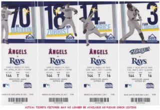 2011 Tampa Bay Rays Full Unused Ticket