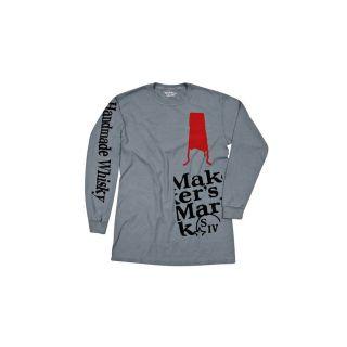 Makers Mark Abstract Bottle Long Sleeve Tee Grey