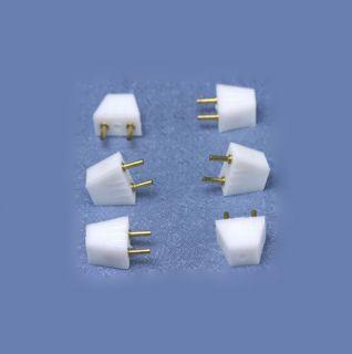 12 Volt Dollhouse Miniature 6 Pack Male Plugs A019020