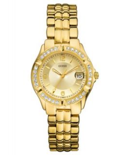 GUESS Watch, Womens Gold Tone Bracelet 39mm U11055L1   All Watches