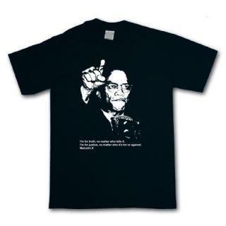 Malcolm x T Shirt Black Panther Party Hip Hop Political