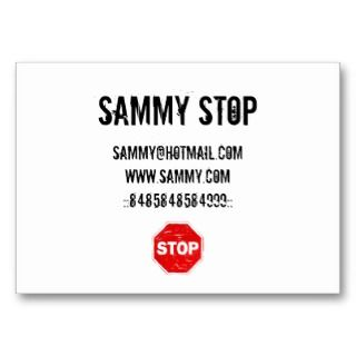 Stop Sign Business Cards