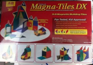 Valtech Magna Tiles 48 Piece Solid Colors Set Brand New Factory SEALED