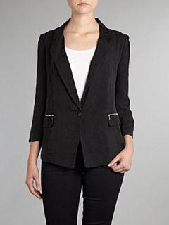 Armani Jeans Silk drape blazer jacket Black