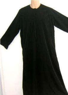 UAE Style Black Arab Thobe Dishdash Gown Dress Men Robe