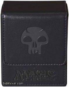MTG Ultra Pro Flip Magnetic Deck Box Black Mana Symbol