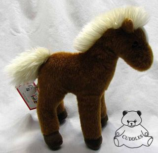 Mr Brown Chestnut Horse Douglas Cuddle Plush Toy Stuffed Animal White