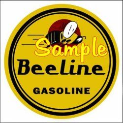 Beeline Gas Vinyl Stickers Decals Gasoline Pump Signs Globes