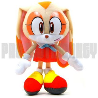 Hedgehog Cream Plush Doll Sega Anime Manga Officially Licensed Genuine