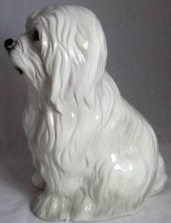 Intrada of Italy Large Maltese Ceramic Dog Free s H
