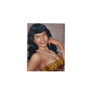 Bettie Page in Jungle Girl Outfit by Al Rio Jigsaw Puzzle